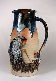 Large Japanese Sumida Tankard, Early 20th C.