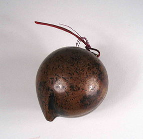 Antique Chinese Copper Peach Box Toggle, 18th C.