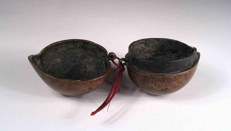 Antique Chinese Copper Peach Box Toggle, 18th C.