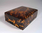 Chinese Scholar�s Ink Stone in Tortoise Shell Box, Qing