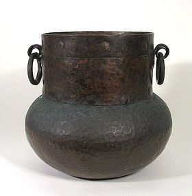 Antique Hand Hammered Spanish Colonial Copper Pot