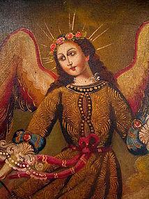 Cuzco Painting, Arcangel San Rafael (Archangel Saint Raphael)