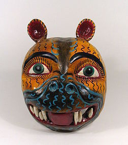 Mexican Folk Art Mask of Jaguar
