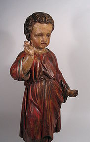 Large Spanish Colonial Santo of the Christ Child, Late 17th C.