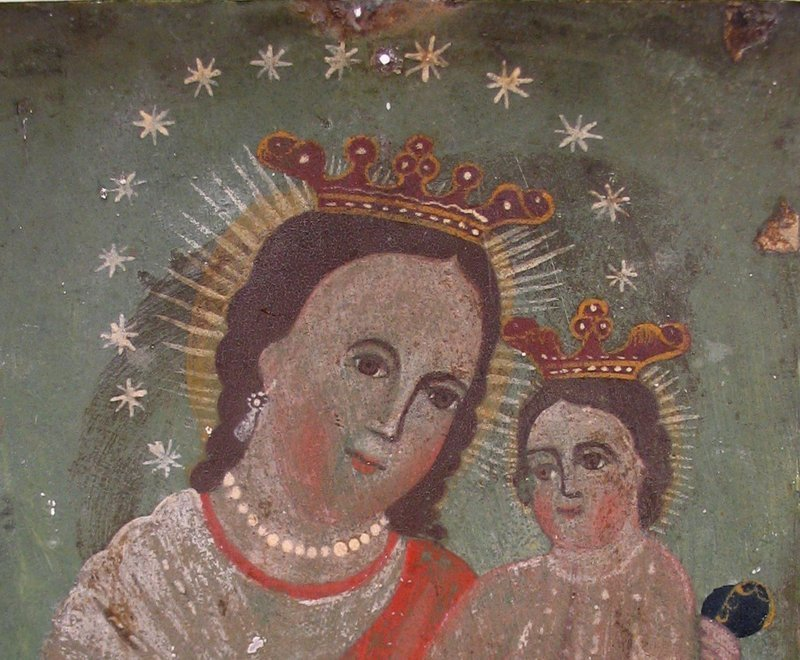 19th C. Mexican Retablo, Our Lady, Refuge of Sinners
