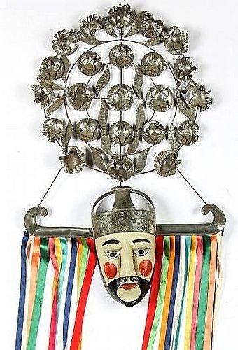 Vintage Mexican Vaquero Festival Dance Mask
