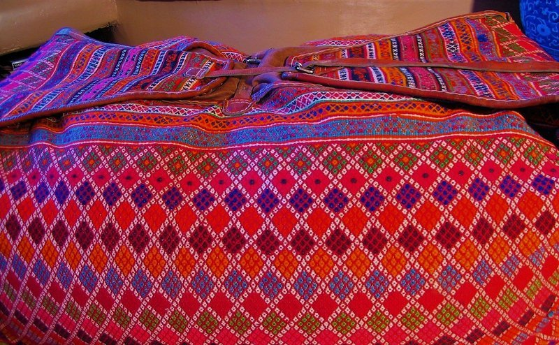 Antique, Hand Woven Turkish Dowry Bag