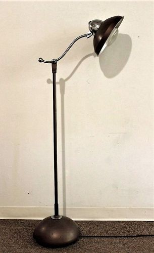 Industrial Metal & Chrome Floor Lamp