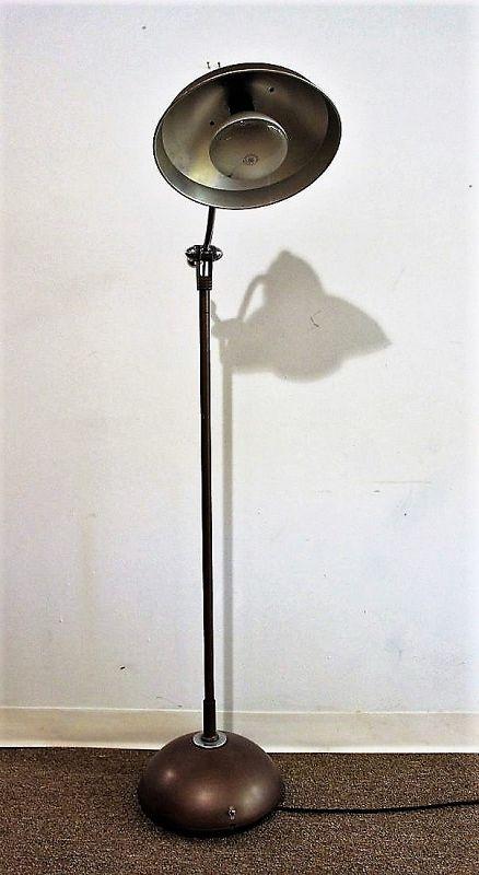 Industrial Metal & Chrome Floor Lamp