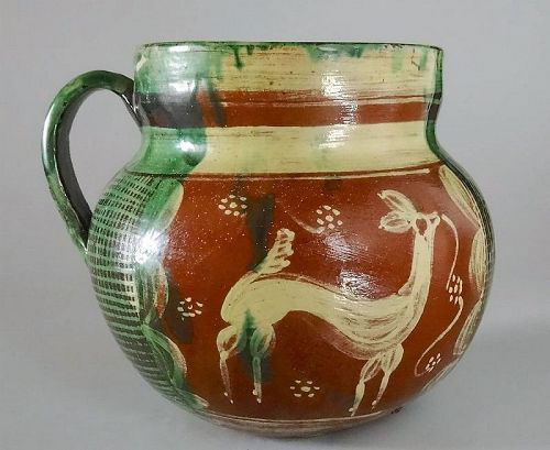 Fine Mexican Tlaquepaque / Tonala Pottery Pitcher, c 1920�s
