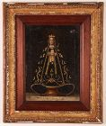 Spanish Colonial Painting, Madonna with Crown