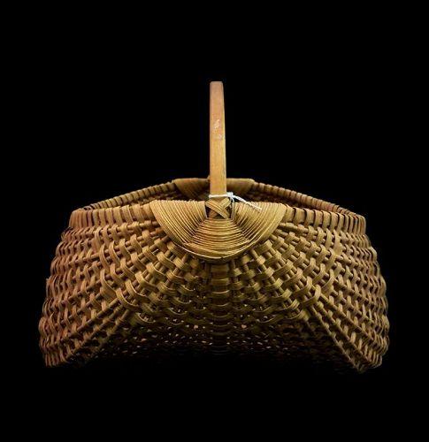 Antique Folk Art Split Oak Field Basket