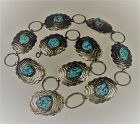 Navajo Nickel Silver Turquoise Concho Belt