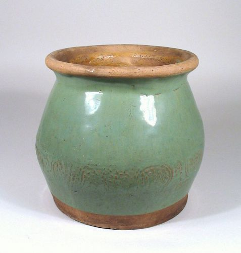 Chinese Celadon Glazed Pottery Jar