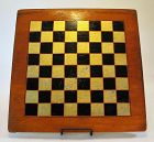 Vintage Wood Checkers Game Board