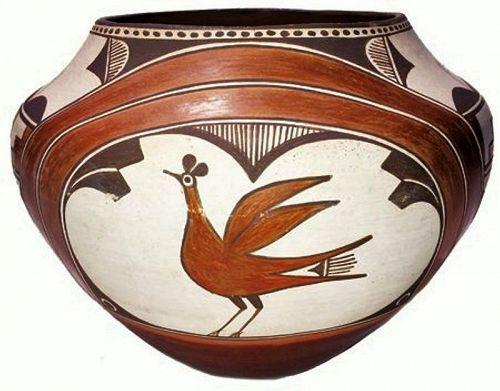 Vintage Zia Pueblo Pottery Olla