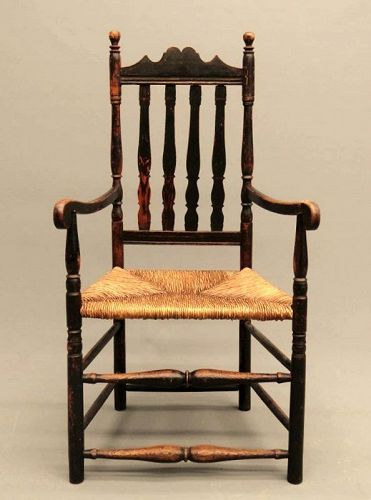 Early American 18th c. Banister Back Armchair