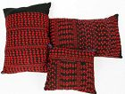 Three Palestinian Embroidered Pillows