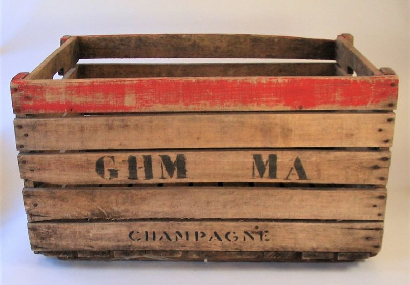 Wooden French Vineyard Champagne Crate