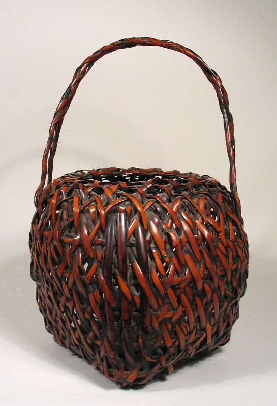 Japanese Bamboo Ikebana Basket, Meiji Period