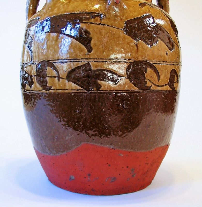 Antique Chinese Red Clay Wine Jar, 19th C.
