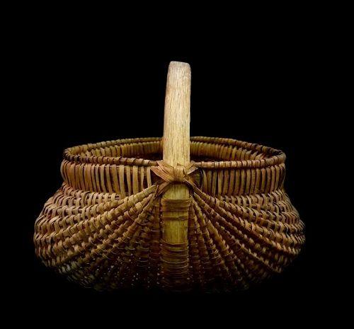 Large Antique Split Oak Field Basket