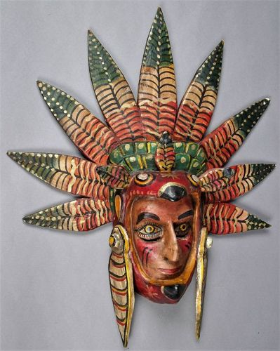 Vintage Mexican Festival Mask, Exhibited