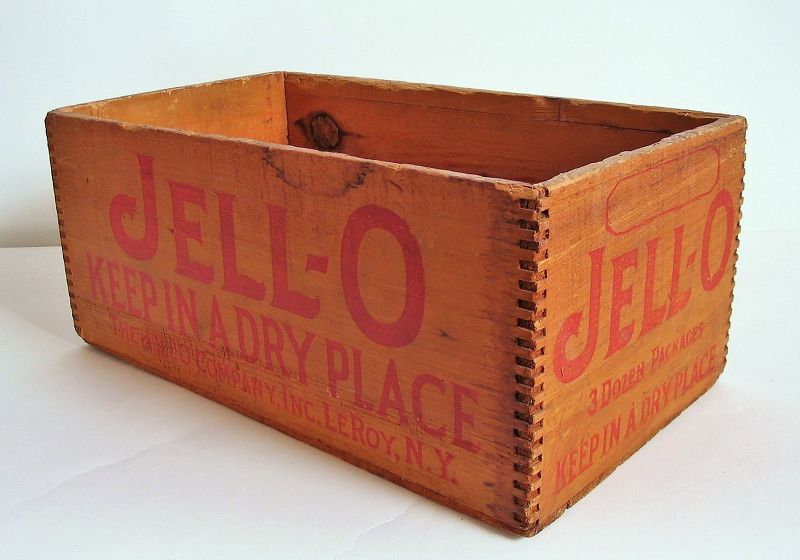 Vintage Jell-O Advertising Crate