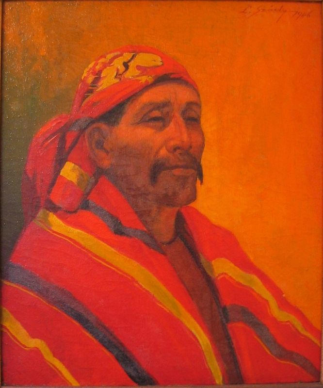 �South American Man,� Mid-Century Oil-On-Canvas, Signed L. Szody