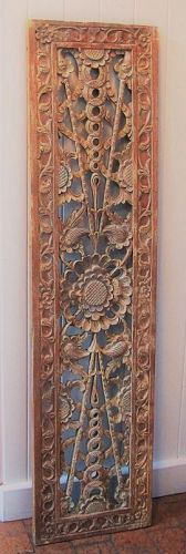 Elaborately Carved Southeast Asian Wood Panel