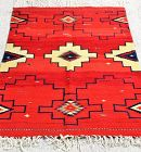 Vintage Mexican Hand Woven Carpet