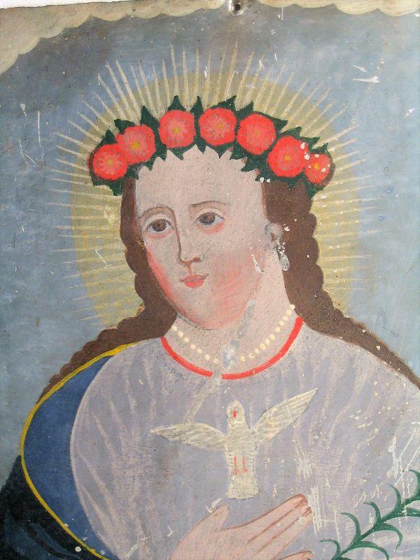 Antique Mexican Retablo - El Alma de Maria