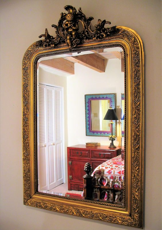 Antique French Giltwood Mirror