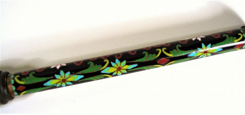 Chinese Scholar�s Cloisonné Calligraphy Brush