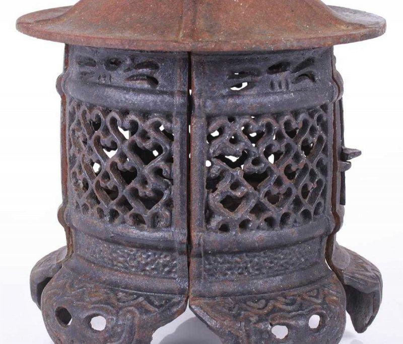 A Japanese Cast Iron Tsuridourou Lantern