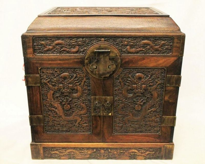 Chinese Huanghuali Jewelry or Seal Chest