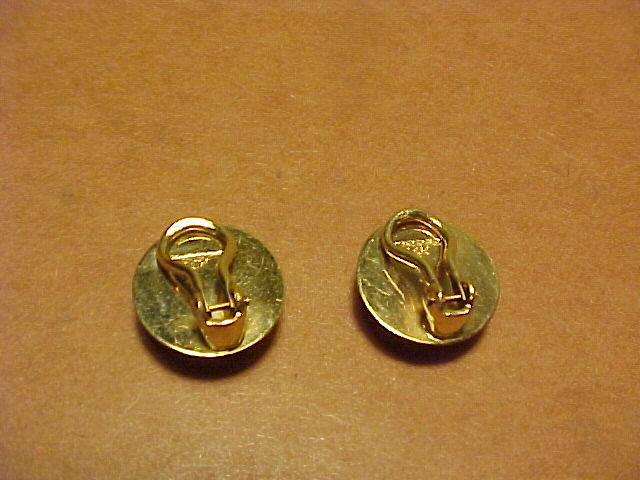 VINTAGE CARLOS DIAZ 14K DIAMOND EARRINGS