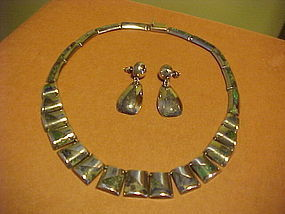 VINTAGE ENRIQUE LEDESMA NECKLACE AND EARRINGS