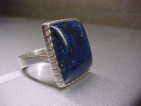 MODERNIST H. FRED SKAGGS STERLING LAPIS RING