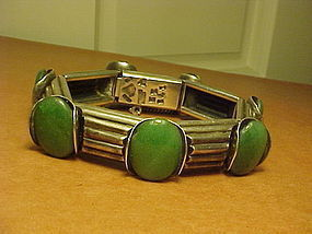 ANTONIO PINEDA 970 SILVER AND AVENTURINE BRACELET
