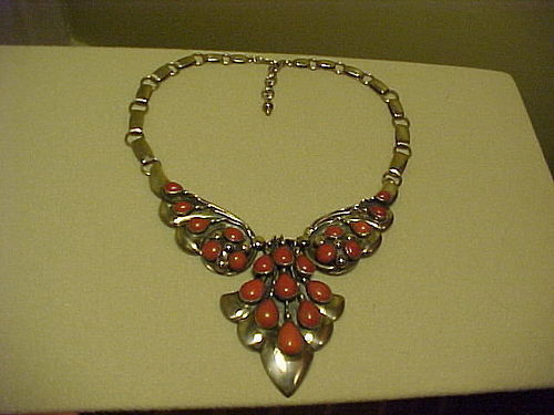 FRANK PATANIA SR. STERLING CORAL NECKLACE