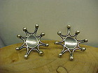 GUSTERMAN JEWELERS SANTA FE STERLING STAR BURST EARRINGS