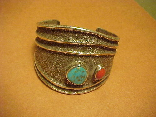 PALA MISSION/CHEROKEE LARRY GOLSH STERLING BRACELET