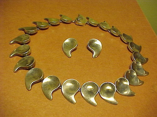 ANTON MICHELSEN DENMARK STERLING NECKLACE AND EARRINGS