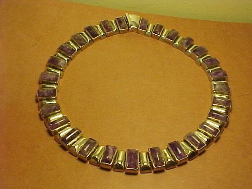 ANTONIO PINEDA 970 SILVER AND AMETHYST NECKLACE