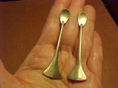 EARLY HANS HANSEN DENMARK LONG STERLING EARRINGS