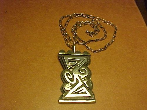 HOPI MICHAEL KABOTIE SILVER OVERLAY PENDANT