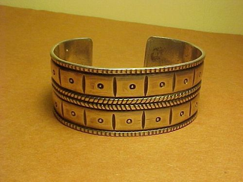 EARLY NAVAJO SIVER BRACELET UNUSUAL DESIGN