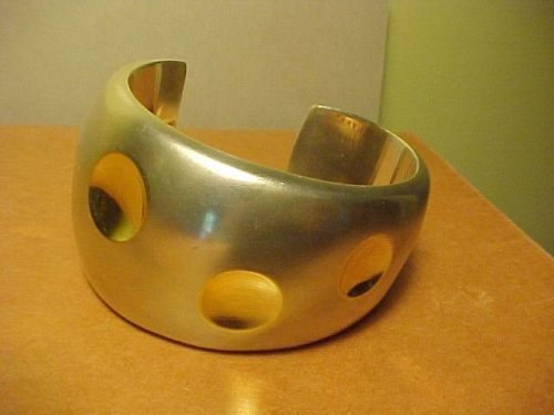 ARIZONA METALSMITH KIM RAWDIN STERLING 18K GOLD CUFF