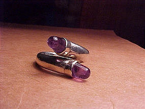 RARE WILLIAM SPRATLING RING WITH AMETHYSTS